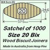 1 Satchel of 1000 Size 20 Bix Wood Biscuit Joiners