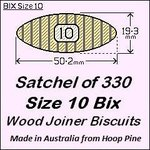 1 Satchel of 330, Size 10 Bix Wood Biscuit Joiners