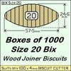 1 Box of 1000, Size 20 Bix Wood Biscuit Joiners