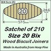 1 Satchel of 210, Size 20 Bix Wood Biscuit Joiners