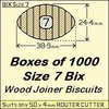 1 Box of 1000, Size 7 Bix Wood Biscuit Joiners