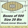 1 Bag of 500 Size 20 Bix Wood Biscuit Joiners