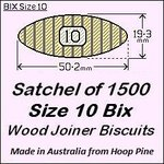 1 Satchel of 1500 Size 10 Bix Wood Biscuit Joiners
