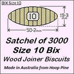 1 Satchel of 3000 Size 10 Bix Wood Biscuit Joiners