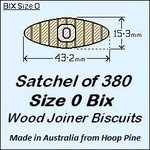 1 Satchel of 380, Size 0 Bix Wood Biscuit Joiners