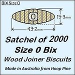 1 Satchel of 2000, Size 0 Bix Wood Biscuit Joiners