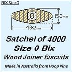 1 Satchel of 4000, Size 0 Bix Wood Biscuit Joiners