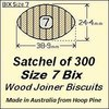 1 Satchel of 300, Size 7 Bix Wood Biscuit Joiners
