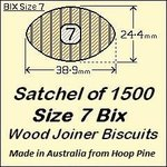 1 Satchel of 1500, Size 7 Bix Wood Biscuit Joiners