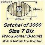 1 Satchel of 3000, Size 7 Bix Wood Biscuit Joiners