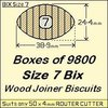 1 Box of 9800 Size 7 Bix Wood Biscuit Joiners