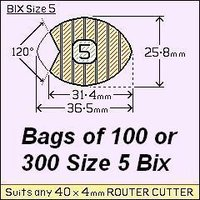 8 bags of 100 Size 5 Bix Wood Joiners