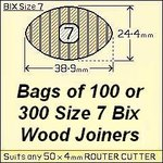 8 bags of 100 Size 7 Bix Wood Biscuit Joiners