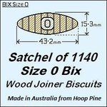1 Satchel of 1140, Size 0 Bix Wood Biscuit Joiners