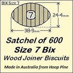 1 Satchel of 600, Size 7 Bix Wood Biscuit Joiners