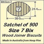 1 Satchel of 900, Size 7 Bix Wood Biscuit Joiners